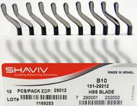 SHAVIV 29106 E250 Thin Nosed Heavy Duty Blade for Plastics Pack of 10