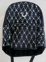 True Religion Unisex Backpack -Monogram Print -Black with White-NWT- Retail $149