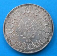 Suisse Switzerland Bâle Basel 5 francs 1879 concours de tir