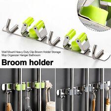 Wall Mount Heavy Duty Clip Broom Holder Storage Mop Organizer Hanger Bathroom#2