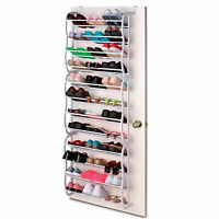 36 PAIR OVER DOOR HANGING SHOE RACK 12 TIER SHELF ORGANISER STORAGE STAND HOLDER