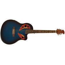 Santander Akustik Western Roundback Gitarre, Cutaway Tonabnehmer Mahagoni Blueb.