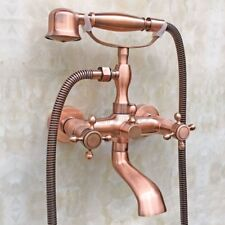 wall mount clawfoot tub faucet handheld shower. Antique Red Copper Wall Mounted Clawfoot Bath Tub Faucet Handheld Shower  Ktf803 Faucets eBay