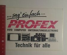 Aufkleber/Sticker: sag einfach Profex Technik für alle (07121641)