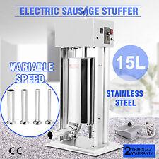 Standard Stainless Steel Meat Sausage Filler Stuffer Salami Maker 15L Vertical