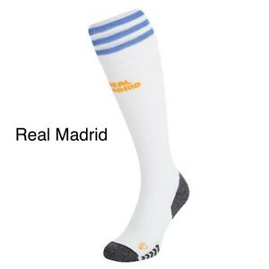 Boys Home Real Madrid Football Socks 2021/22 Available In All Kids Sizes.