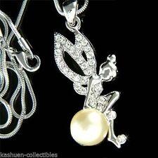 Markenlose Rhodium beschichtete Modeschmuck-Halsketten aus Kristall