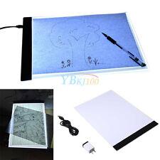 A4 LED Artist Thin Art Stencil Light Box Tracing Drawing Board Pad Set Portable