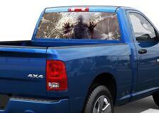 Zombie behind blood broken glass Rear Window Decal Sticker Pick-up Truck SUV Car