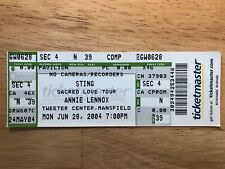 Sting Unused Ticket Stub 'Sacred Love Tour' 2004