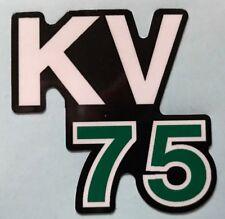 KAWASAKI KV75 KV75-A8 Calcomanía de depósito de aceite