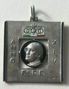 Italian medal Football FIGC Calcio Duce Mussolini Fascismo Campionato Serie a