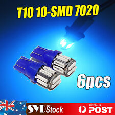 BLUE T10 7020SMD LED Auto Festoon Dome Dashboard Interior Light Replacement 6PCS