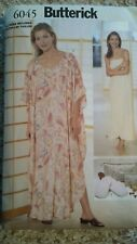 Butterick Misses Caftan Wrap Slippers Pattern 6045 Size 6-22 From 1999