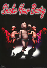 LOT OF 2 POSTERS: COMICAL:  SHAKE YOUR BOOTY - BABIES DANCING   #3179   RAP18 A