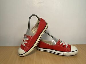 Converse All Star Ballet Lace Women's Red Trainers Size UK 5 EUR 38