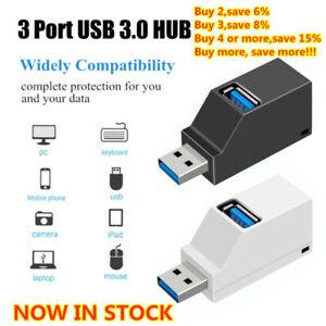 3 Port USB Hub Mini USB 2.0 High Speed Hub Splitter Box For PC Notebook Laptop