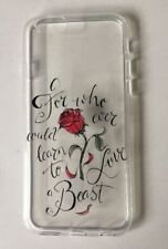 Disney Beauty And The Beast Clear Silicone Gel Case For iPhone 6/6s. BIrthday