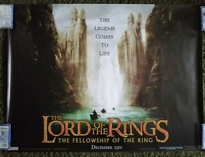 LORD OF THE RINGS: THE FELLOWSHIP OF... (2001) Original UK Quad Movie Poster v2
