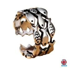 UK Fashion Silver Fish Group Adjustable Open Ring