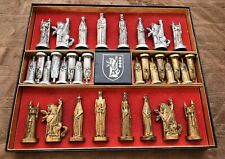 Conqueror Medieval English Sculptured Chess Set by Peter Ganine
