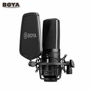 BOYA BY-M1000 Condenser Microphone Large Diaphragm 3 Polar Patterns For Youtube
