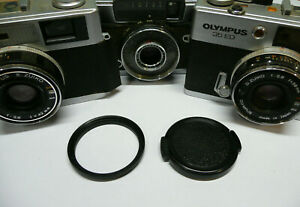43.5mm to 46mm Filter Step Up Ring & Lens Cap Olympus 35 ED RC EC ECR PEN D D2