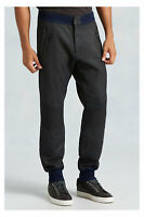 True Religion Men's Coated Moto Sweatpants in Jet Black