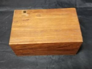 """Vintage Wooden Jewelry Trinket Box -6""""x4""""x2.75"""" Made in India Wood,"""
