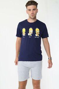 Mens Cotton Pyjama Lounge Short Set Simpsons Homer Lounge Wear Disney PJs Size