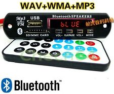 12v LED Bluetooth MP3 Player Decoder Board SD/USB/AUX/FM Stereo+Remote For DIY