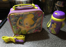 Purple Tinkerbell Lunch Box Bag Insulated With Canteen  Disney Store Exclusive