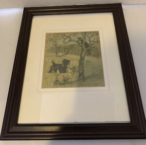 G. Vernon Stokes Colour Print 1947 1st Edition Framed and Matted