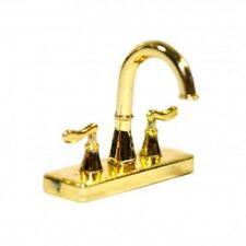 Dolls House Modern Brass Mixer Tap Faucet Miniature 1:12 Kitchen Accessory