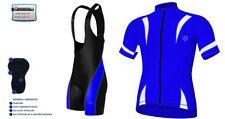 Abbigliamento blu di maglia per ciclismo taglia L