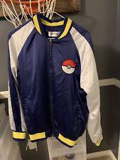 Pokemon Japanese Satin Souvenir Tourists Jacket Men's Small Pikachu