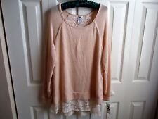 Woman BAR 111 Top Sz XL Moscow-2 Pink / White Color Lacy Material Sand Dollar
