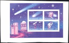 St Vincent 1986 Halley's Comet/Space/Astronomy/Telescope IMPERF 4v sht (b8509)