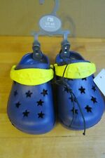 Mothercare kids blue and yellow clogs like crocs size child 4/5
