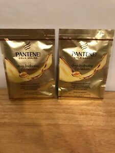 4 Pack Pantene Gold Series Co-Wash Hydrating 1.7 Ounce Packette