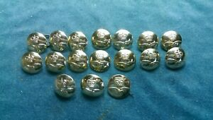 17 x British RAF Royal Air Force staybright buttons  #A103