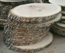 """8, Pc 11"""" to12""""Oak Log oval Slices Wood Disk Rustic Wedding Centerpiece Coaster"""