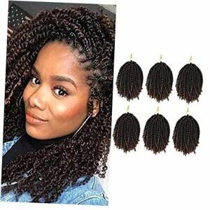 6 Packs Spring Twist Braiding Hair Spring Twists Bomb Twist Hair spring #T30