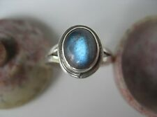 Labradorite Silver Ring Size 6.25 ~ Nice gemstone flash