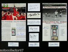 GENUINE ENGLAND WORLD CUP 1966 AUTOGRAPHS signed Bobby Moore Alf Ramsey