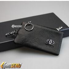 TOYOTA Key Bag Genuine Leather Car Remote Cover Fob Holder Key Chain Case