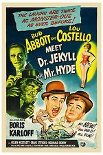Abbott & Costello Meet Dr. Jekyll & Mr. Hyde * Poster 1953 Large Format 24x36