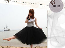 New Women Bohemian Pleated Tutu Princess Skirt Petticoat Knee-Length Mini Dress