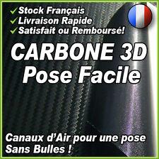 152 X 90CM Carbone 3D Noir - Evacuation d'air - Autocollant Covering Pro