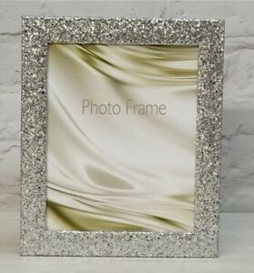 Frosted Glitter Sparkle Bling Wedding Gift Placecard Photo Frame Picture Xmas